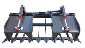 72 Inch Skid Steer Heavy Duty Root Grapple Bucket Free Shipping
