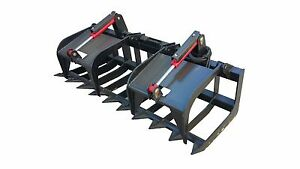 60 Inch Heavy Duty Skid Steer Root Grapple Bucket Free Shipping