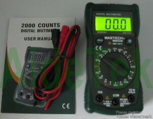 Ms8233b 19 range Tester Multimeter Hold Diode Buzz Ac Dc Non contact Backlight