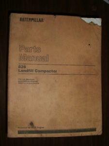 Caterpillar 836 Landfill Compactor Parts Book Sebp2211
