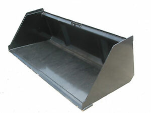 New 72 Snow Litter Skidsteer Bucket W quick Attach Free Shipping