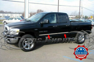 Fit 2002 2008 Dodge Ram Quad crew Cab Flat Body Side Molding Trim 1 5