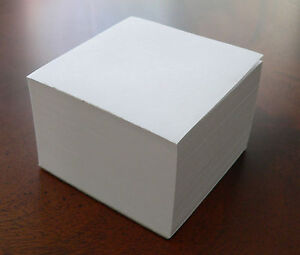 Blank Note Paper Cubes 70 Stock padded 3 1 2 X 3 1 2