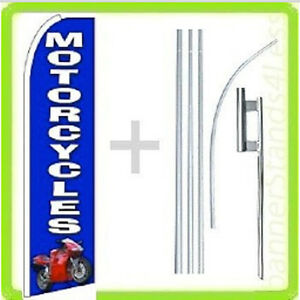 Motorcycles Swooper Flag Kit Feather Flutter Banner Sign 15 Set Bq