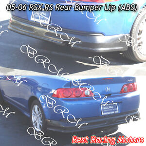Rs Style Rear Bumper Lip Abs Fits 05 06 Acura Rsx