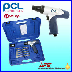 Genuine Pcl Air Hammer Chisel Tool Set Kit App500set Pneumatic Cold Chisels Uk