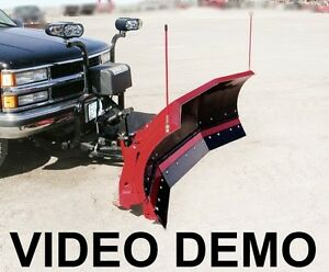 9 Scoop Snow Plow Poly Trip Edge Video Chevy Ford Trucks