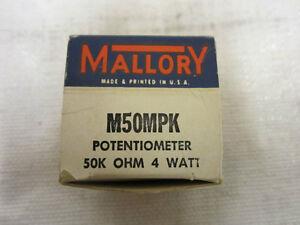 Mallory M50mpk Potentiometer 50k Ohm 4watt