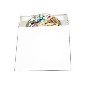 50 Cd Dvd Media Pacakaging White Cardboard Envelope Self Adhesive Mailers 5 x5