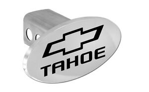 Chevy Tahoe Trailer Hitch Cover Plug With Black Chevrolet Bowtie