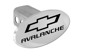 Chevy Avalanche Trailer Hitch Cover Plug With Black Chevrolet Bowtie