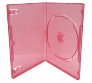 100 Standard Clear Red Color Single Dvd Cases
