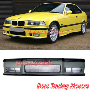M3 Style Front Bumper Cover Removable Lip Spoiler Fit 92 99 Bmw E36 3 Series