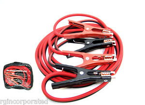 16 Ft 6 Gauge Booster Cable Jumping Cables Power Jumper Heavy Duty