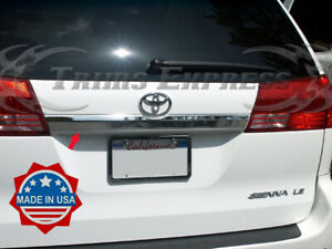 Fit 04 2010 Toyota Sienna Rear Door Cover Trim Molding Accent Trunk Stainless