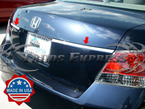 2008 2012 Honda Accord Trunk License Cover Trim Rear Door Accent Stainless Steel
