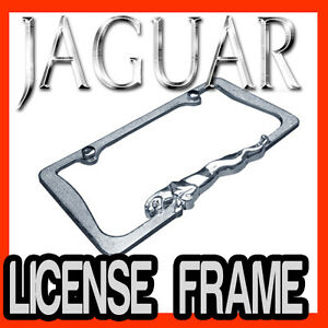 Jaguar 3d Chrome Metal License Plate Frame Best Quality Aaa