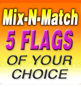 Swooper 11 5 Feather Flag Banner Sign Mix N Match Wholesale 5 Pack flags Only