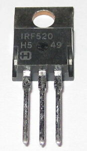 Irf520 N channel Power Mosfet 100v 9 2 Amperes Fast Switching Fet