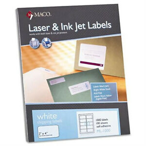 10000 Labels Ml 1000 Shipping Labels 2 X 4 10 To The Page 10 Pks Of 100
