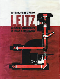Leitz Ortholux Microscope Accessories Specifications Prices 1963 Cd l0159
