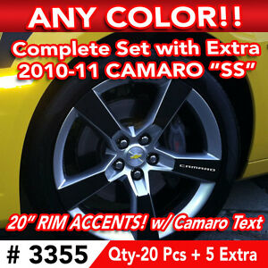 25pc Set 2010 11 Chevy Camaro Ss Wheel 20 Rim Accents Decal Sticker Any Color