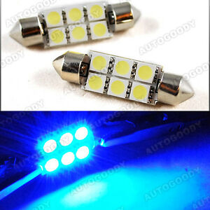 Ultra Blue 578 Led Bulbs Festoon 5050 Dome Map Cargo Light 211 2