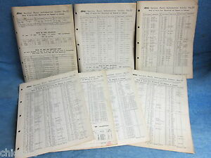 1951 1952 Ford Service Parts Information Letters Lot Of 7