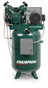 Champion Fully Packaged Air Compressor Model Vr10 12 10hp 230 Volt 3 Phase