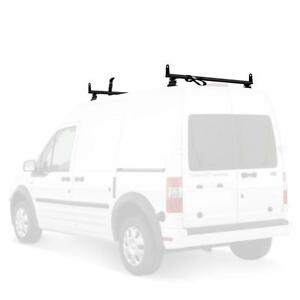 Vantech Black J2000 2 Bar a285 50 Ladder Roof Van Rack w Acc W Tracks