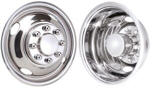 Jsd1608 Dodge Ram 3500 16 Inch Stainless Steel Pound On Hubcaps Simulators