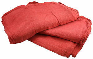 1000 Pcs Red Cotton Shop Towel Rags industrial Grade New Wipers