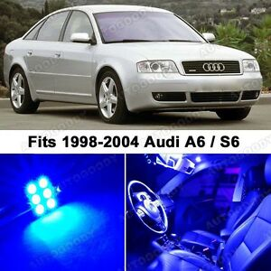 21 X Premium Blue Led Lights Interior Package Upgrade For Audi A6