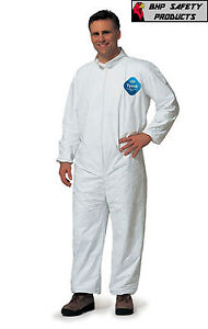 Dupont Tyvek Coveralls Plain Suit 25 Per Case Size X large Disposable Coverall