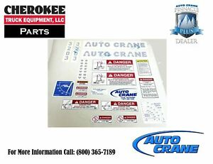 Auto Crane 320445000 Decal Kit For 3203prx