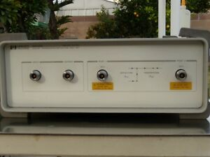 Hp agilent 85630a Transmission Reflection Test Set good Working Calibrated