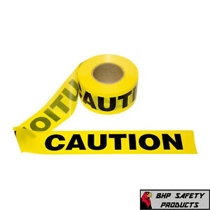 Yellow Caution Barricade Warning Safety Ribbon Tape 3 X 1000 12 Roll Case