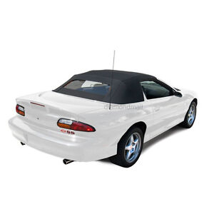 Chevrolet Camaro 94 02 Convertible Top With Heated Glass Window Black Sailcloth