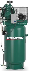 Champion Vrv5 8 1p 230v Air Compressor 5 Hp Single Phase 80 Gallon Two Stage