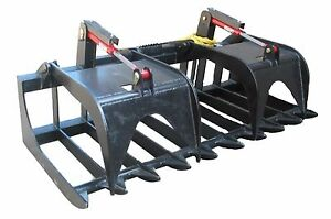 New Heavy Duty 84 Root Grapple Skidsteer Attachment Quick Attach Free Ship