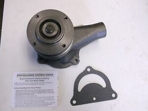 Ford 8n 9n 2n Water Pump With Pulley Both Gaskets New
