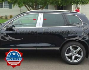 2011 2018 Volkswagen Touareg 4pc Chrome Pillar Post Stainless Steel Trim Door