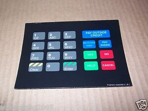 New Gilbarco Marconi T18724 1046 Pin Pad Keypad Display Sign Decal
