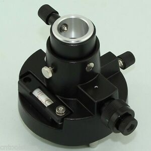 Brand New Black Tribrach Adapter Carrier With Optical Plummet For Prism Set