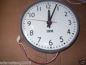 Ibm Vintage Cv 12 Hour Hardwire Surface Mount Clock