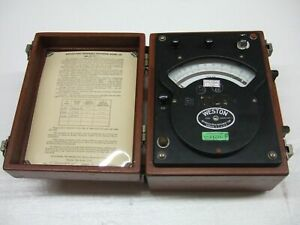 Vintage Antique Weston Model 341 Ac Voltmeter 1978 Rare Test Equipment Steampunk