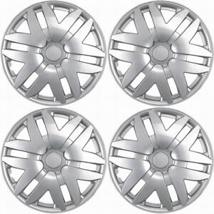4 Pc Hubcaps Fits 04 07 Toyota Sienna 14 Silver Abs Replacement Wheel Rim Cover