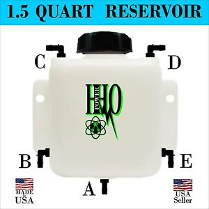 1 5 Quart Hho Heavy Duty Bubbler Reservoir With Up To 5 Five Fittings