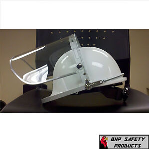Pyramex White Hard Hat With Ratchet Faceshield And Adaptor Special 6 Pack