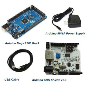 Mega 2560 Rev3 And Adk Shield For Android Starter Kits arduino Compatible